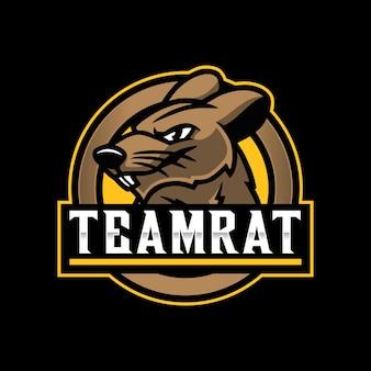 Rat mascotte logo