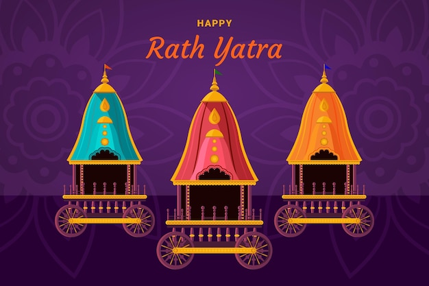 Rath yatra viering illustratie