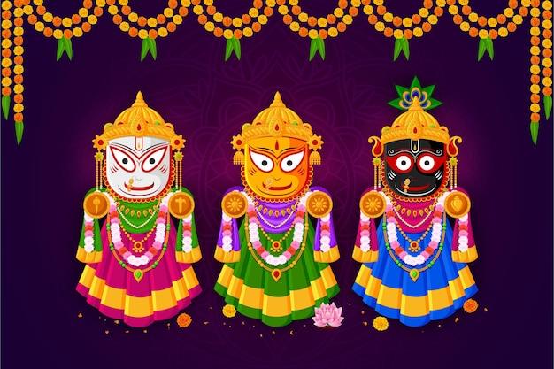 Ratha yatra van lord jagannath balabhadra en subhadra
