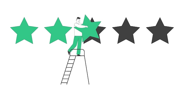 Rating, kwaliteit en business ranking concept