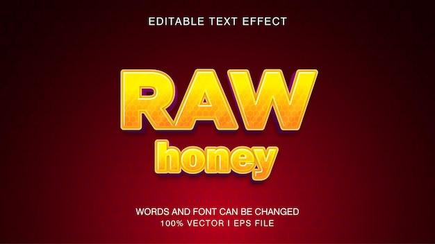 Rauwe honing cartoon komische bewerkbare teksteffect stijlsjabloon.