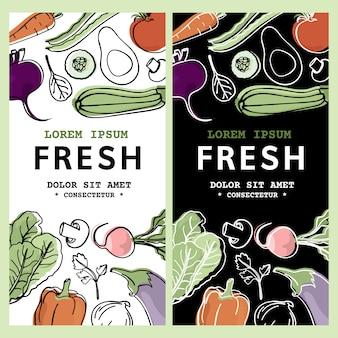 Raw flyer tekst low carb van gezond voedsel