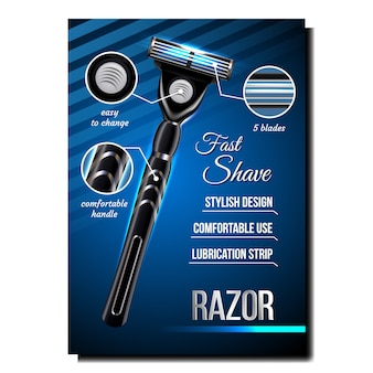 Razor for shave creative adverteren