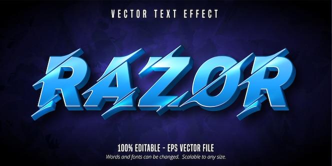 Razor-tekst, uitknipbaar bewerkbaar teksteffect