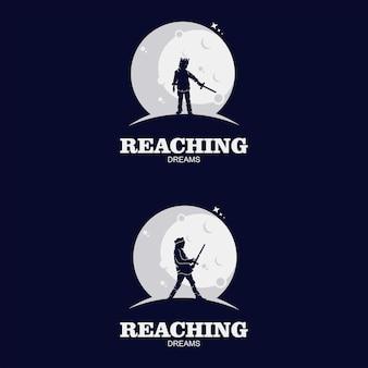 Reach dreams-logo met maansymbool
