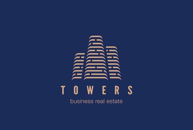 Real estate constructionlogo icoon.