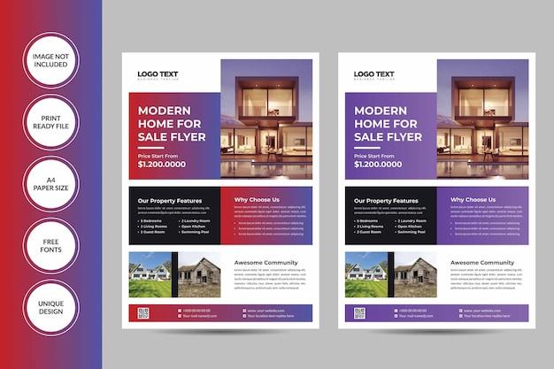 Real estate flyer-sjablonen