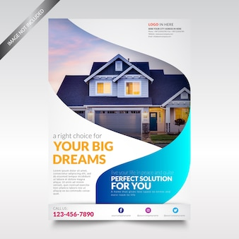 Real estate flyer-sjabloon