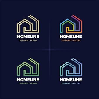 Real estate logo huis of huis lijn logo.