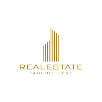 Real estate logo-sjabloon