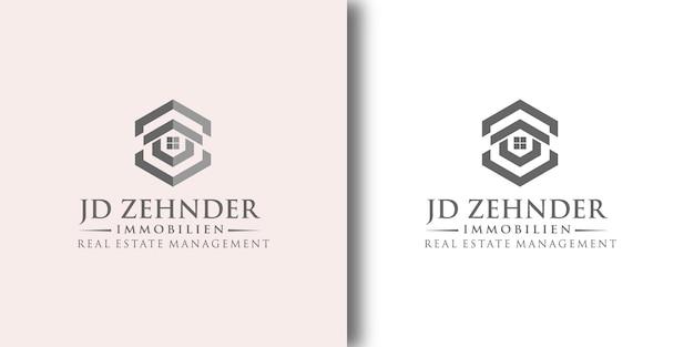 Real estate management logo sjabloon met modern concept