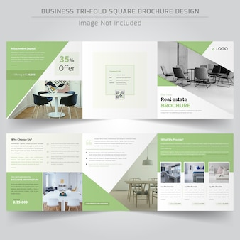 Real estate square driebladige brochure