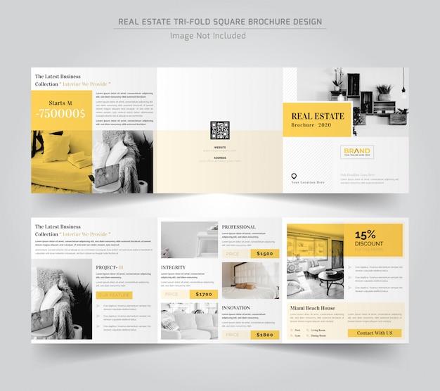 Real estate square driebladige brochure