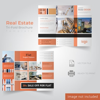 Real estate trifold handoutsjabloon
