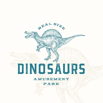 Real size dinosaurussen pretpark abstract teken symbool of logo