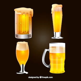 Realisitc bierglas en mokcollectie