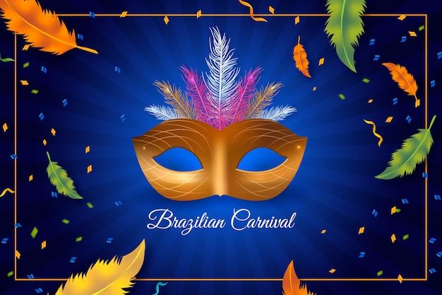 Realisitc braziliaans carnaval-thema