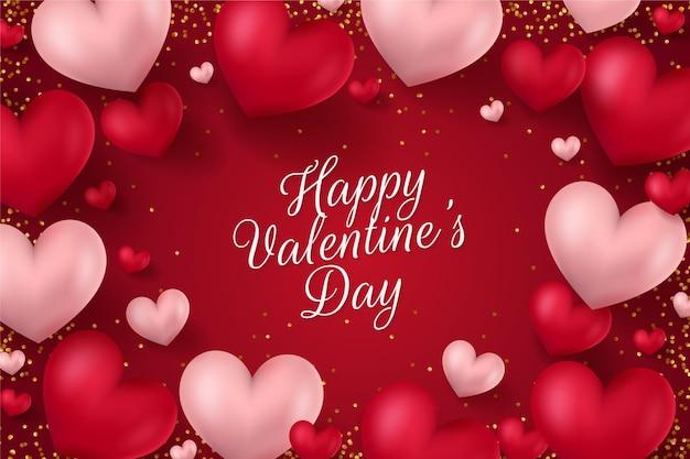 Realistc valentijnsdag achtergrond