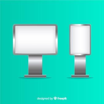 Realisticlight box reclamebord