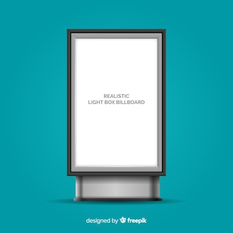 Realisticlight box reclamebord