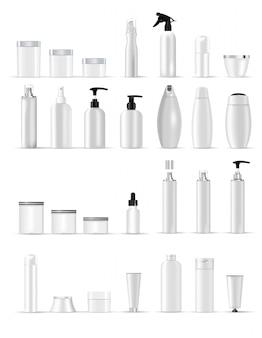 Realistisch 3d mockup van cosmetisch pakket