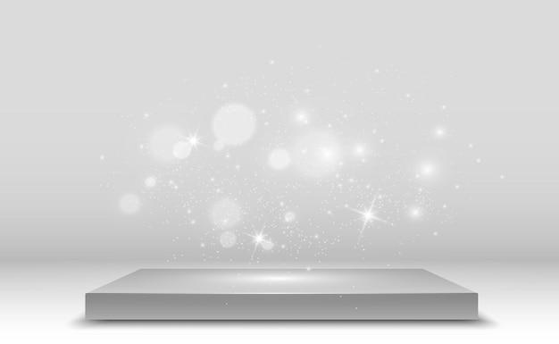 Realistisch 3d-platform met lichteffect