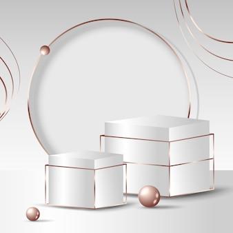Realistisch 3d-sieraden mockup-ontwerp