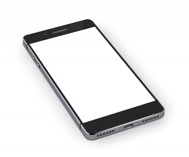 Realistisch 3d smartphone mobiel apparaat