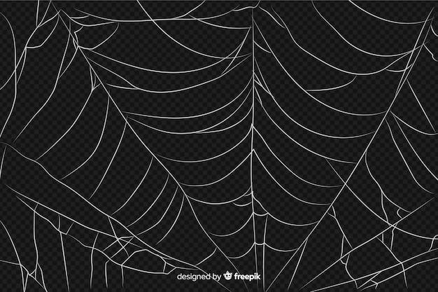 Realistisch abstract ontwerp van spinneweb