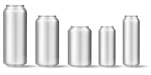 Realistisch aluminium blik