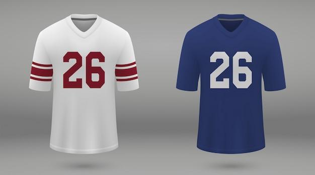 Realistisch amerikaans voetbalshirt