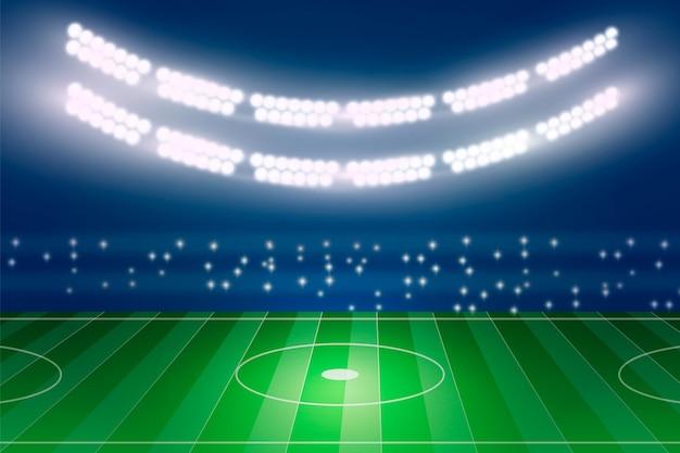 Realistisch amerikaans voetbalstadion