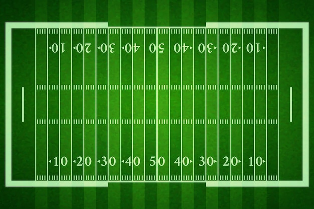 Realistisch amerikaans voetbalveld