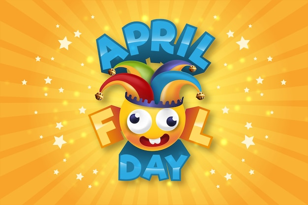 Realistisch april dwazen dag concept