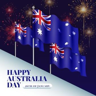 Realistisch australië dagconcept