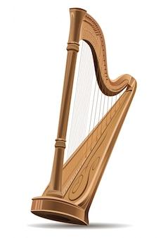 Realistisch beeld van de harp.