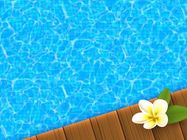 Realistisch blauw zwembad