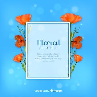 Realistisch bloemenkader