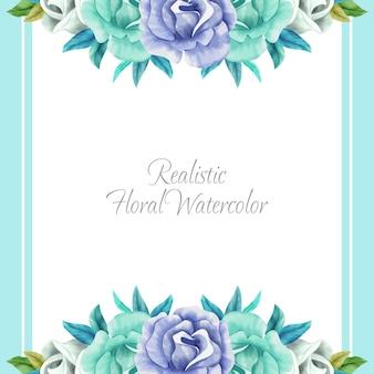 Realistisch bloemenwaterverfkader