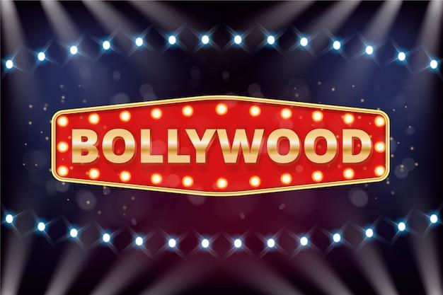 Realistisch bollywood bioscoopbord