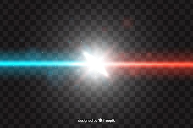 Realistisch botsingseffect met twee lichten