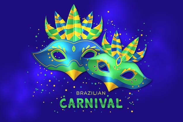 Realistisch braziliaans carnaval-behang