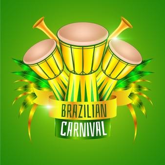 Realistisch braziliaans carnaval met trommels