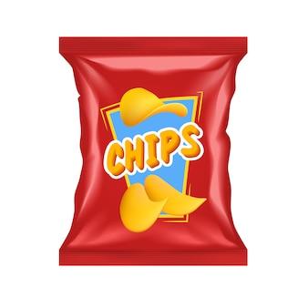 Realistisch chipspakket