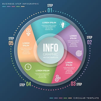 Realistisch cirkeldiagram infographic