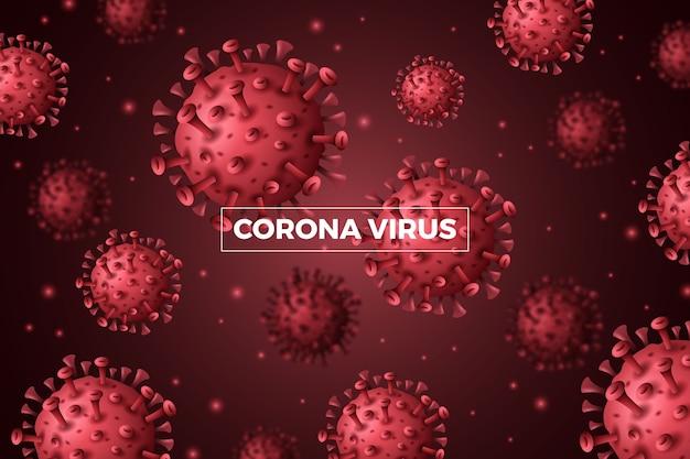 Realistisch coronavirus achtergrondconcept