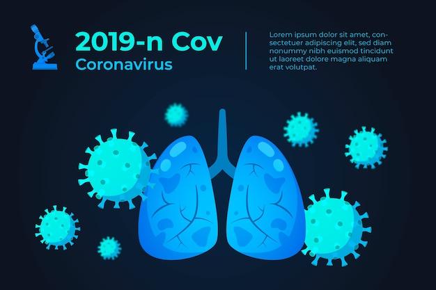 Realistisch coronavirusconcept