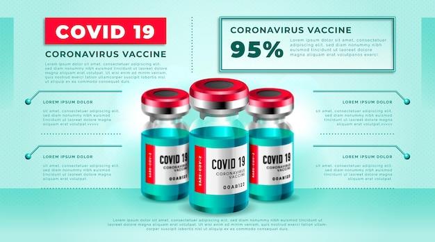 Realistisch coronavirusvaccin infographic sjabloon