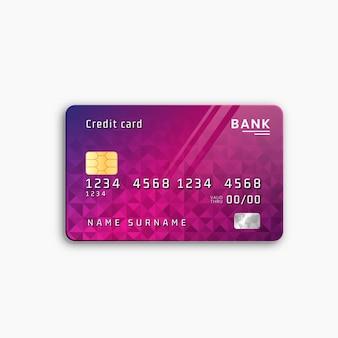 Realistisch creditcardontwerp