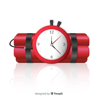 Realistisch dynamiet met klok